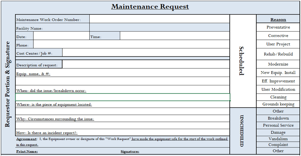 (Figure 2) Service Request